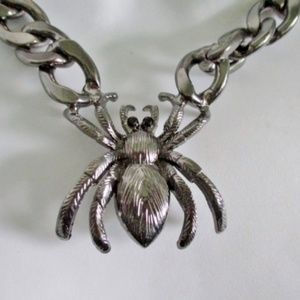 SPIDER Creepy Chainlink Choker Necklace Goth Punk